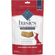 Blue Buffalo Basics Limited Ingredient Formula Biscuits Salmon & Potato Dog Treats, 6-oz bag