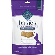 Blue Buffalo Basics Limited Ingredient Formula Biscuits Turkey & Potato Dog Treats, 6-oz bag