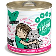 BFF Tuna & Pumpkin Valentine Dinner in Gravy Canned Cat Food, 10-oz, tray of 12