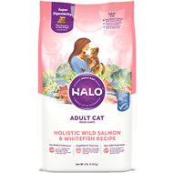 Halo Holistic Wild Slamon & Whitefish Recipe Adult Dry Cat Food, 6-lb bag