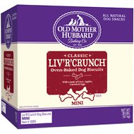 Old Mother Hubbard Classic Liv'R'Crunch Biscuits Mini Baked Dog Treats, 20-lb box