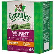 Greenies Weight Management Petite Dental Dog Treats, 45 count