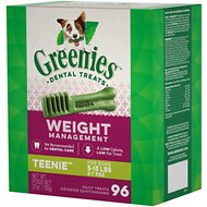 Greenies Weight Management Teenie Dental Dog Treats, 96 count