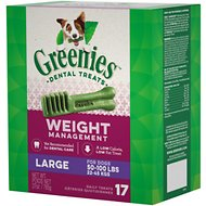 Greenies Weight Management Large Dental Dog Treats, 17 count