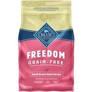 Blue Buffalo Freedom Small Breed Adult Chicken Recipe Grain-Free Dry Dog Food, 4-lb bag
