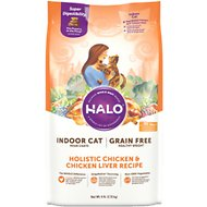 Halo Holistic Chicken & Chicken Liver Recipe Grain-Free Healthy Weight Indoor Cat Dry Cat Food, 6-lb bag