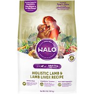 Halo Holistic Lamb & Lamb Liver Adult Dry Dog Food, 4-lb bag