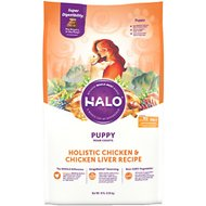 Halo Holistic Chicken & Chicken Liver Recipe Puppy Dry Dog Food, 10-lb bag