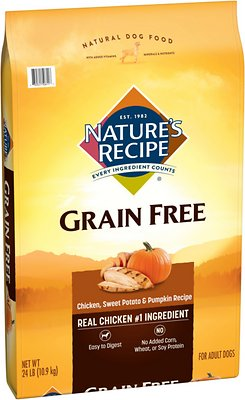 Nature's Recipe Grain-Free Chicken, Sweet Potato & Pumpkin Recipe Dry Dog Food