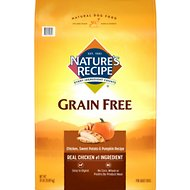 Nature's Recipe Grain-Free Chicken, Sweet Potato & Pumpkin Recipe Dry Dog Food, 24-lb bag