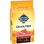 Nature's Recipe Grain-Free Salmon, Sweet Potato & Pumpkin Recipe Dry Dog Food, 4-lb bag