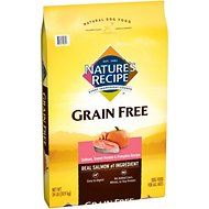 Nature's Recipe Grain-Free Salmon, Sweet Potato & Pumpkin Recipe Dry Dog Food, 24-lb bag