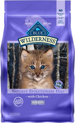 9. Blue Buffalo Wilderness Kitten Chicken Recipe Grain-Free Dry Cat Food