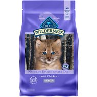Blue Buffalo Wilderness Kitten Chicken Recipe Grain-Free Dry Cat Food