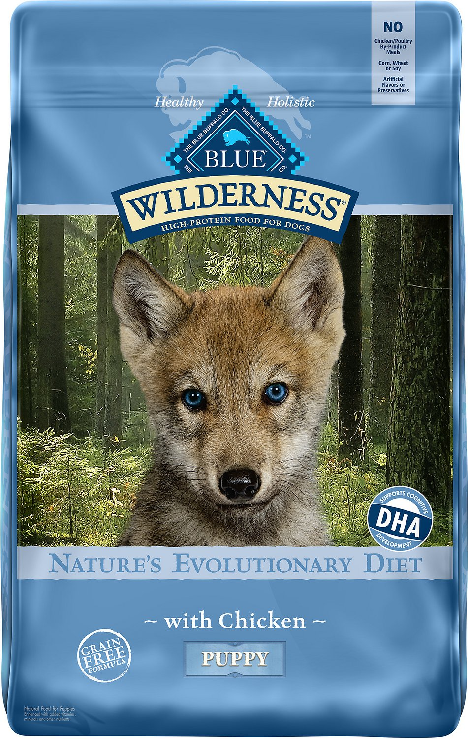 Blue Buffalo Wilderness Puppy Chicken Recipe Grain Free Dry Dog Food
