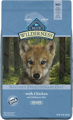 Blue Buffalo Wilderness High Protein Puppy Dog Food Chicken Recipe