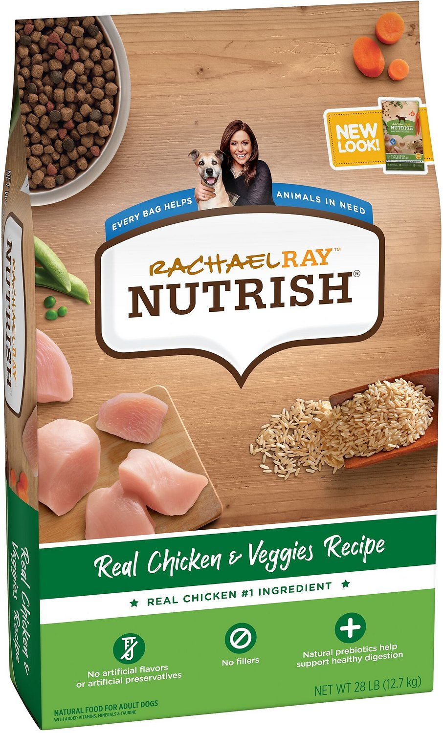 Rachael Ray Nutrish Natural Chicken Veggies Recipe Dry Dog Food