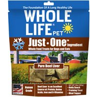 Whole Life Just One Ingredient Pure Beef Liver Freeze-Dried Dog & Cat Treats, 10-oz bag