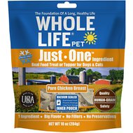 Whole Life Just One Ingredient Pure Chicken Breast Freeze-Dried Dog & Cat Treats, 10-oz bag
