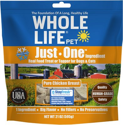 Whole Life Just One Ingredient Pure Chicken Breast Freeze-Dried Dog & Cat Treats
