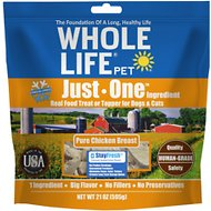 Whole Life Just One Ingredient Pure Chicken Breast Freeze-Dried Dog & Cat Treats, 21-oz bag