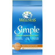 Wellness Simple Limited Ingredient Diet Duck & Oatmeal Formula Dry Dog Food, 26-lb bag