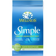 Wellness Simple Limited Ingredient Diet Lamb & Oatmeal Formula Dry Dog Food, 26-lb bag