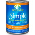 Wellness Simple Limited Ingredient Diet Duck & Oatmeal Formula Canned Dog Food
