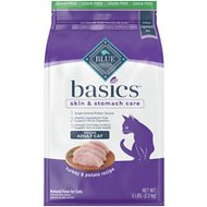 Blue Buffalo Basics Limited Ingredient Grain-Free Formula Turkey & Potato Recipe Indoor Adult Dry Cat Food, 5-lb bag