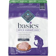 Blue Buffalo Basics Limited Ingredient Grain-Free Formula Turkey & Potato Recipe Indoor Adult Dry Cat Food, 11-lb bag