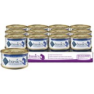 Blue Buffalo Basics Limited Ingredient Grain-Free Indoor Duck & Potato Entree Adult Canned Cat Food, 3-oz, case of 24