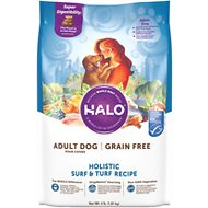 Halo Holistic Surf & Turf Recipe Grain-Free Adult Dry Dog Food, 4-lb bag