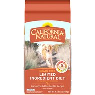 California Natural Adult Limited Ingredient Grain Free Kangaroo & Red Lentils Recipe Dog Food, 4.5-lb bag