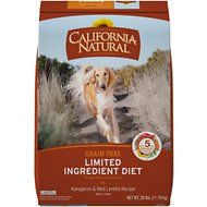 California Natural Adult Limited Ingredient Grain Free Kangaroo & Red Lentils Recipe Dog Food, 26-lb bag