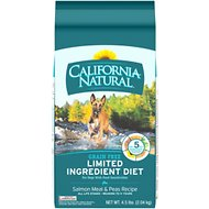 California Natural Adult Limited Ingredient Grain Free Salmon Meal & Peas Recipe Dog Food, 4.5-lb bag