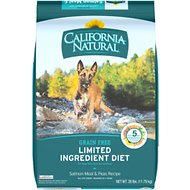 California Natural Adult Limited Ingredient Grain Free Salmon Meal & Peas Recipe Dog Food, 26-lb bag