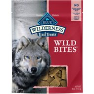 Blue Buffalo Wilderness Trail Treats Salmon Wild Bites Grain-Free Dog Treats, 4-oz bag