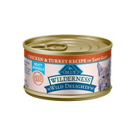 Blue Buffalo Wilderness Wild Delights Chicken & Turkey in Tasty Gravy Grain-Free Canned Cat Food, 3-oz, case of 24