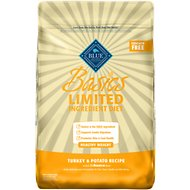 Blue Buffalo Basics Limited Ingredient Diet Healthy Weight Turkey & Potato Recipe Adult Dry Dog Food, 24-lb bag