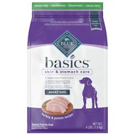 Blue Buffalo Basics Limited Ingredient Grain-Free Formula Turkey & Potato Recipe Adult Dry Dog Food, 4-lb bag