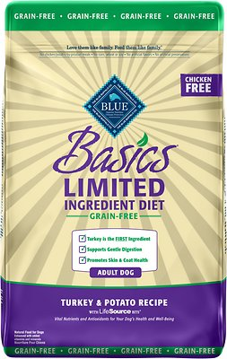 4. Blue Buffalo Basics Limited Ingredient Diet Grain-Free Adult Dry Dog Food