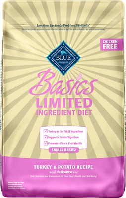 8. Blue Buffalo Basics Limited Ingredient in Turkey & Potato Recipe for Small Breed Adult Dogs