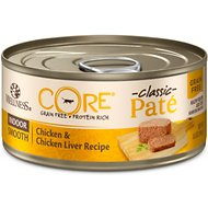 Wellness CORE Grain-Free Indoor Chicken & Chicken Liver Recipe Canned Cat Food, 5.5-oz, case of 24