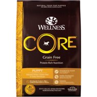 Wellness CORE Grain Free Puppy Chicken & Turkey Recipe Dry Dog Food, 12-lb bag