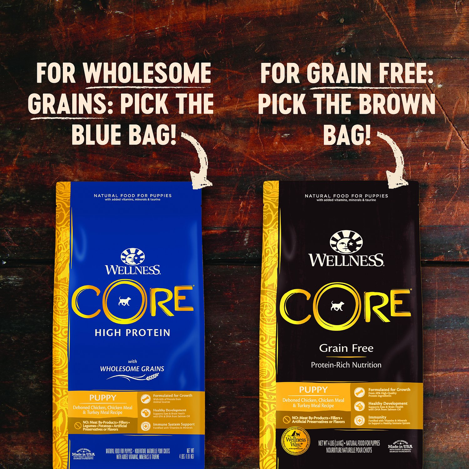 Wellness Core Grain Free Puppy Chicken Amp Turkey Recipe Dry