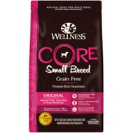 Wellness CORE Grain Free Small Breed Turkey & Chicken Recipe Dry Dog Food, 4-lb bag