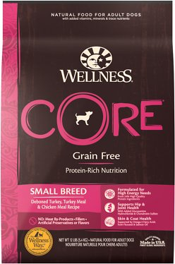 3. Wellness Core Grain-Free Small Breed Dry Dog Food