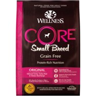 Wellness CORE Grain Free Small Breed Turkey & Chicken Recipe Dry Dog Food, 12-lb bag