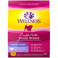 Wellness Small Breed Complete Health Adult Healthy Weight Turkey & Brown Rice Recipe Dry Dog Food, 12-lb bag