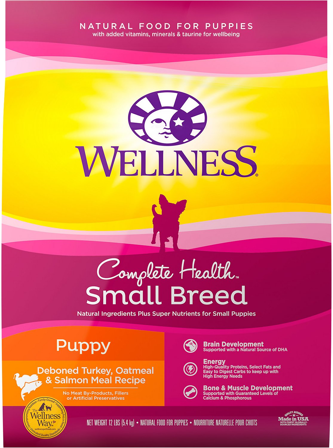 Wellness Small Breed Complete Health Puppy Turkey Oatmeal